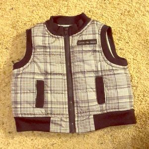 Calvin Klein Jeans Navy and Plaid Vest